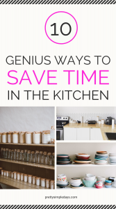 save time in the kitchen