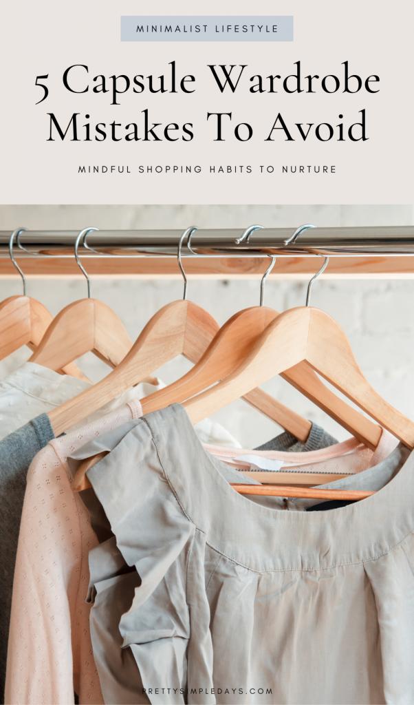 Capsule Wardrobe Mistakes
